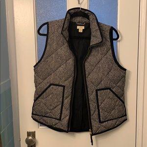 J Crew Herringbone Vest